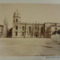 Fotografía antigua: FOTOGRAFÍA ALBÚMINA PORTUGAL. BELÉM MONASTERIO DE LOS JERÓNIMOS. 22 X 28 CM PORTUGAL LEVY. Lote 51184778