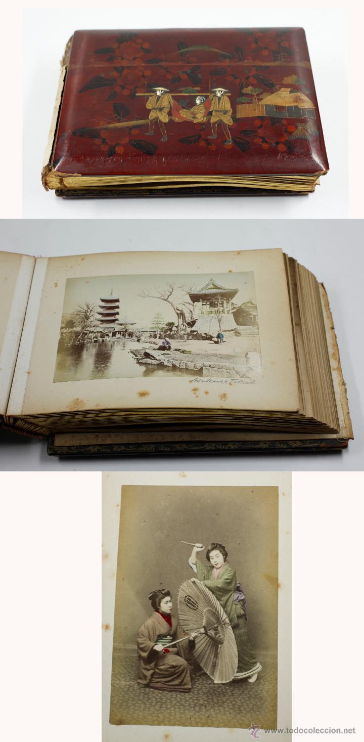 JAPÓN, 1890'S. ÁLBUM CON 50 FOTOS: NAGASAKI, TOKIO, NIKKO, OSAKA, KOBE, ETC. Y MUCHOS RETRATOS, VER. (Fotografía Antigua - Albúmina)