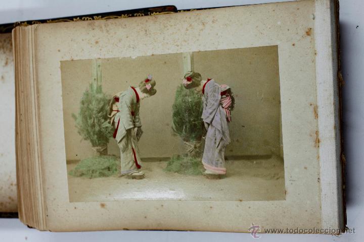 Fotografía antigua: Japón, 1890's. Álbum con 50 fotos: Nagasaki, Tokio, Nikko, Osaka, Kobe, etc. Y muchos retratos, ver. - Foto 3 - 51299985