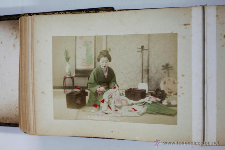 Fotografía antigua: Japón, 1890's. Álbum con 50 fotos: Nagasaki, Tokio, Nikko, Osaka, Kobe, etc. Y muchos retratos, ver. - Foto 4 - 51299985