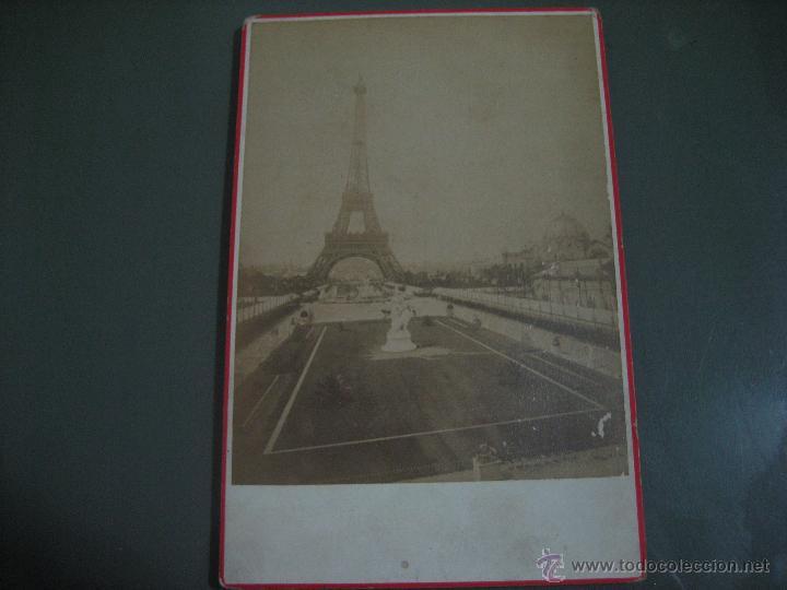 FOTOGRAFIA ANTIGUA: 16.4X10,8 CTMS. EDITEUR: E. ZIEGLER. PARIS.- CARTONÈ.- TORRE EIFFEL (Fotografía Antigua - Albúmina)