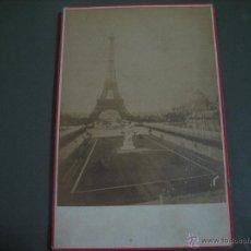 Fotografía antigua: FOTOGRAFIA ANTIGUA: 16.4X10,8 CTMS. EDITEUR: E. ZIEGLER. PARIS.- CARTONÈ.- TORRE EIFFEL . Lote 51342613