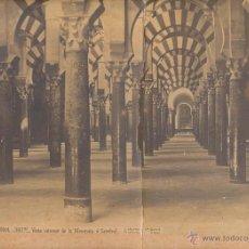 Fotografía antigua: CORDOBA. VISTA INTERIOR DE LA MEZQUITA. LAURENT. ALBUMINA (34X25 CM.). Lote 51354101