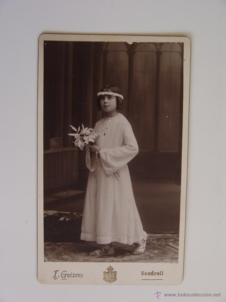 Fotografía antigua: FOTOGRAFIA ALBUMINA FOTOGRAFIA GUIXENS VENDRELL - Foto 2 - 51441811