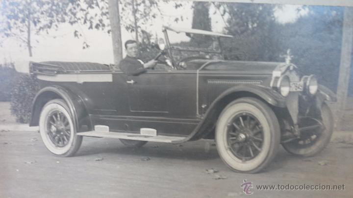 ESPECTACULAR FOTO 25 X 15 CTMS. LUJOSO AUTOMÓVIL. BARCELONA. AÑOS 1920-30S. FOTO: GARRETA (Fotografía Antigua - Albúmina)