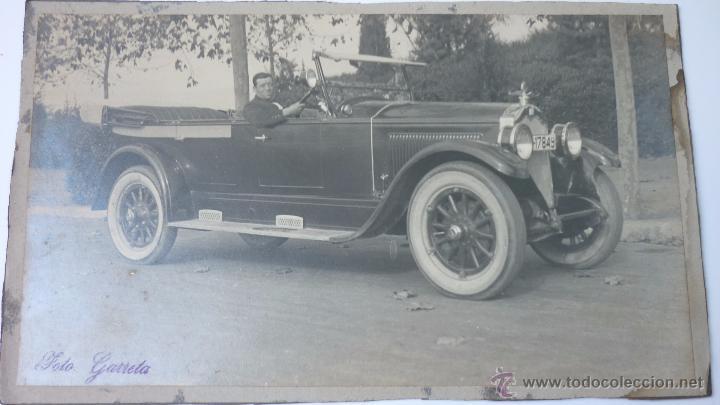 Fotografía antigua: Espectacular foto 25 x 15 ctms. Lujoso automóvil. Barcelona. Años 1920-30s. Foto: Garreta - Foto 2 - 51475273