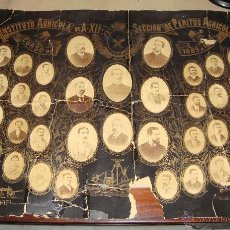 Fotografía antigua: ANTIGUA ORLA. INSTITUTO AGRICOLA DE ALFONSO XII. SECCION DE PERITOS AGRICOLAS. 1889. FOT. NAPOLEON. Lote 51529697