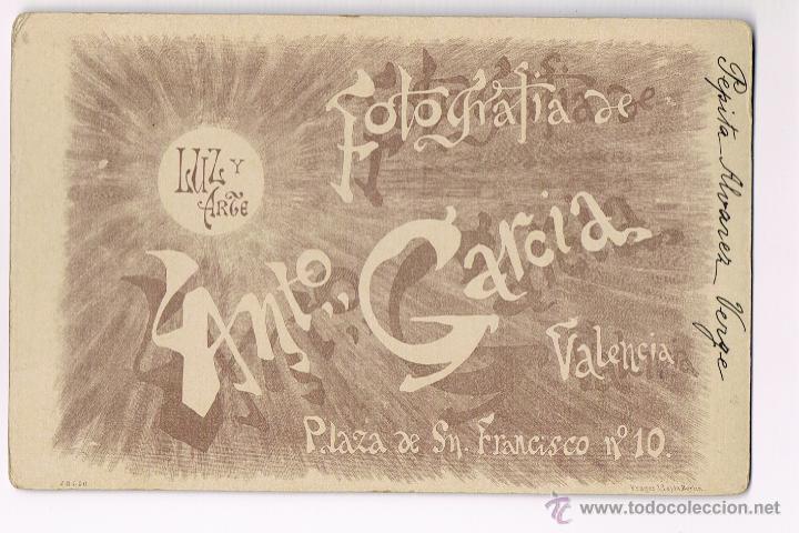 ANTONIO GARCIA - VALENCIA - SIGLO XIX - LUZ Y ARTE (Fotografía Antigua - Albúmina)