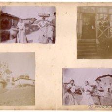 Fotografía antigua: LOTE DE 4 FOTOGRAFIAS EN ALBUMINA. VIZCAYA. BUTRON. CIRCA 1900. Lote 51733560