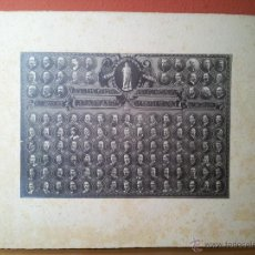 Fotografía antigua: FOTOGRAFIA ALBUMINA DE ORLA DE LA FACULTAD DE MEDICINA DE BARCELONA 1911- 1917. Lote 52280911