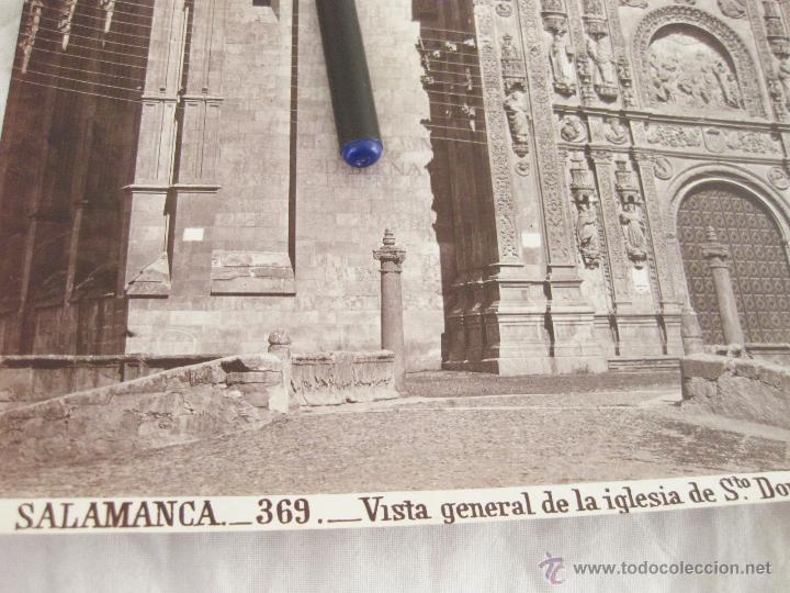Fotografía antigua: FOTOGRAFÍA ALBÚMINA DE J. LAURENT. 24 X 32,5. SALAMANCA 369. VISTA DE LA IGLESIA DE SANTO DOMINGO - Foto 2 - 52290772