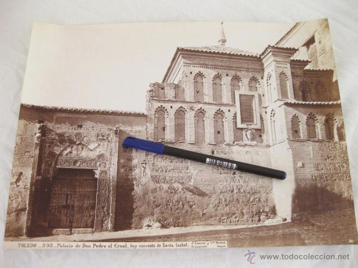 FOTOGRAFÍA ALBÚMINA DE J. LAURENT. 25 X 33,5 TOLEDO 595. PALACIO DE DON PEDRO EL CRUEL. SANTA ISABEL (Fotografía Antigua - Albúmina)