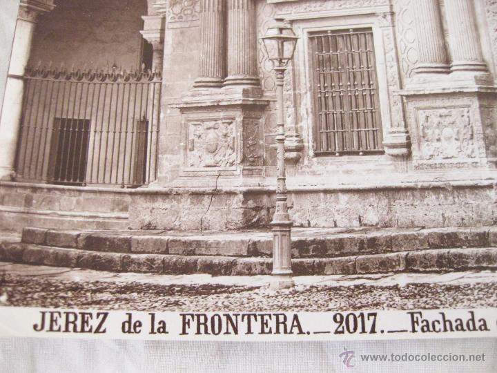 Fotografía antigua: FOTOGRAFÍA ALBÚMINA DE J. LAURENT. 25 X 33. JEREZ DE LA FRONTERA 2017. FACHADA DEL CABILDO VIEJO - Foto 2 - 52294286