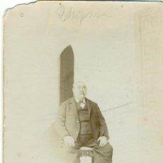 Fotografía antigua: ECIJA. CORDOBA. FOTO DE UN CABALLERO. MARZO DE 1898.. Lote 52299644