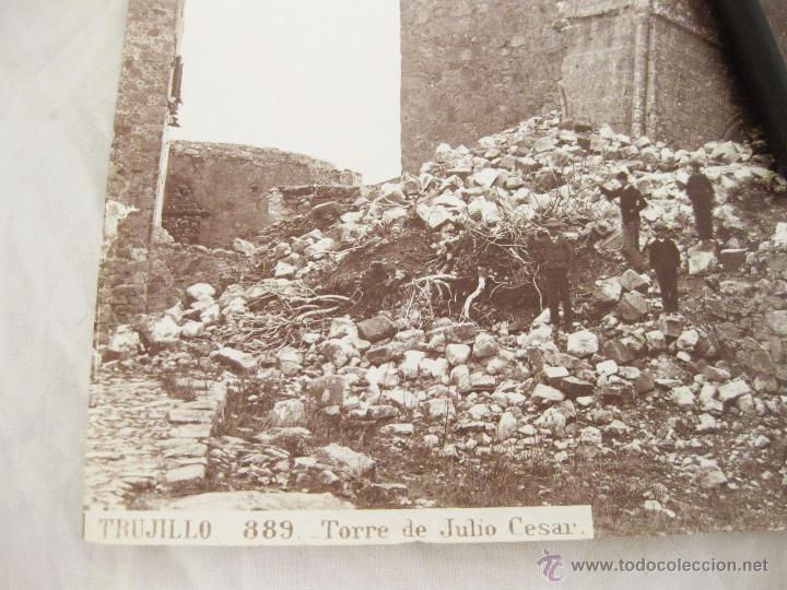 Fotografía antigua: FOTOGRAFÍA ALBÚMINA DE J. LAURENT. 24,5 X 33,5. TRUJILLO 889. TORRE DE JULIO CESAR - Foto 2 - 52305419