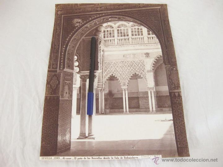 FOTOGRAFÍA DE J. LAURENT. 24,5 X 32. SEVILLA 1393. ALCAZAR. EL PATIO DE LAS DONCELLAS DESDE LA SALA (Fotografía Antigua - Albúmina)