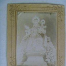 Fotografía antigua: ALBUMINA DE Nª. Sª. DE LA CABEZA , PATRONA DE MONTEJICAR (?, ILEGIBLE ) , SIGLO XIX. Lote 194311921