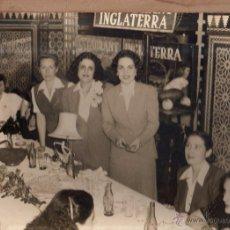 Fotografía antigua: CUBA. HOTEL INGLATERRA. RESTAURANT DEL HOTEL. BOTELLAS COCA COLA. 28 X 23CM.. Lote 52341261