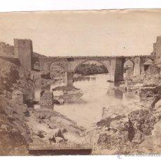 Fotografía antigua: TOLEDO, PUENTE DE SAN MARTÍN, FOTO: ALGUACIL, 1890'S. 18X22 CM.. Lote 52346947