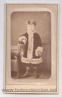 FOTOGRAFIA EN ALBUMINA ESCENA INFANTIL. FOTO HENRI BADIÉ. PARIS. CIRCA 1870 (Fotografía Antigua - Albúmina)