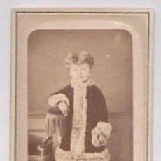 Fotografía antigua: FOTOGRAFIA EN ALBUMINA ESCENA INFANTIL. FOTO HENRI BADIÉ. PARIS. CIRCA 1870. Lote 52366719