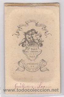 Fotografía antigua: FOTOGRAFIA EN ALBUMINA ESCENA INFANTIL. FOTO HENRI BADIÉ. PARIS. CIRCA 1870 - Foto 2 - 52366719