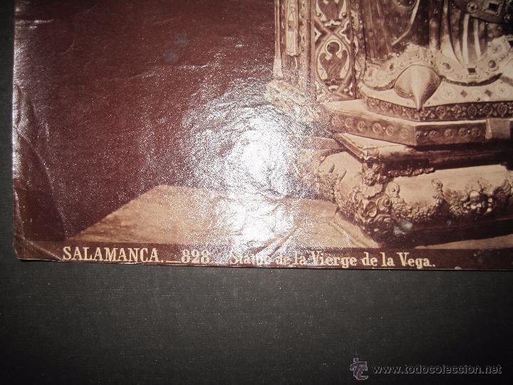 Fotografía antigua: ALBUMINA LAURENT- SALAMANCA- 828-STATUE DE LA VIERGE DE LA VEGA - 25 X 33 MED- (F-462) - Foto 3 - 39174334