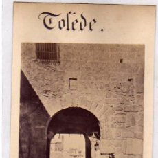 Fotografía antigua: FOTOGRAFÍA ALBÚMINA TOLEDO. 597 BJADA DEL CRISTO DE LA LUZ. J. LAURENT MADRID. . Lote 52526829