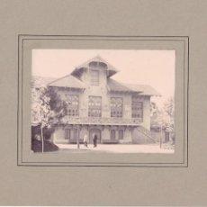 Fotografía antigua: FG55. FOTOGRAFIA EN ALBUMINA. ESTACION DE TREN ALREDEDORES BARCELONA. S.XIX.. Lote 52556428