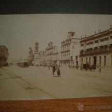 Fotografía antigua: ANTIGUA FOTOGRAFIA DE LA CIUDAD DE MEXICO - ALBUMINA 13 X 20 CNTº - ORIGINAL DE CB WAITE. Lote 52614298