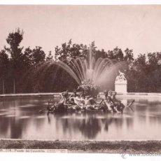 Fotografía antigua: SAN ILDEFONSO, 118. FUENTE DEL CANASTILLO, FOTO: LAURENT, MADRID. 1870'S. 25,5X33,5CM.. Lote 52656463