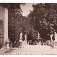 Fotografía antigua: ARANJUEZ, 129. FUENTE DE HÉRCULES EN LOS JARDINES DE LA ISLA, FOTO: LAURENT, MADRID. 1870'S. 25X32,5. Lote 52656942