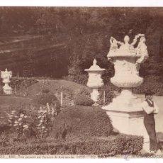 Fotografía antigua: SAN ILDEFONSO, 1093. TRES JARRONES DEL PARTERRE DE ANDRÓMEDA, FOTO: LAURENT. 1870'S. 25X34 CM.. Lote 52657174