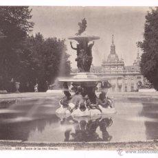 Fotografía antigua: SAN ILDEFONSO, 1080. FUENTE DE LAS TRES GRACIAS, FOTO: LAURENT. MADRID. 25X33 CM.. Lote 52657296