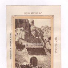 Fotografía antigua: MONTSERRAT, PUERTA ENTRADA AL MONASTERIO, 1860'S. FOTO: CANTÓ, BARCELONA. SOPORTE: 18 X 26,5 CM.. Lote 52808691