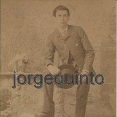 Fotografía antigua: RETRATO. MUCHACHO. SIGLO XIX. FOTÓGRAFO CONSTANTINO IBARRA. CALLE DE LA PRINCESA, 8. ALICANTE.. Lote 53000874