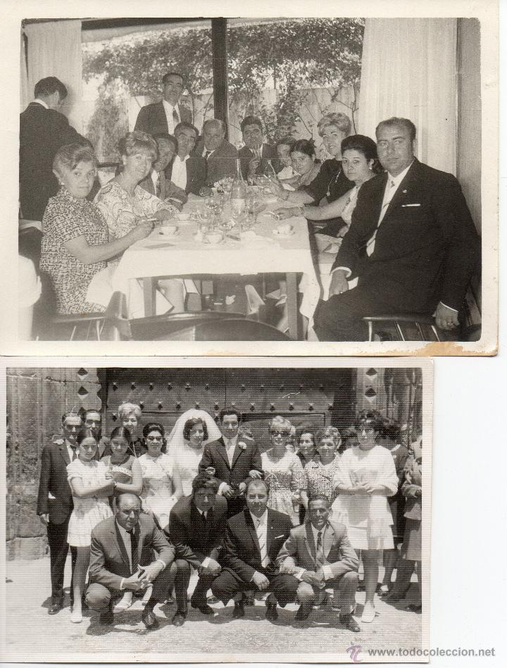 LOTE DE 6 FOTOS DE BODAS Y COMIDAS AÑOS 60 (Fotografía Antigua - Albúmina)