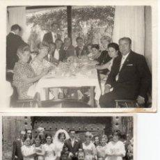 Fotografía antigua: LOTE DE 6 FOTOS DE BODAS Y COMIDAS AÑOS 60. Lote 53016434