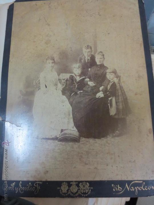 FOTO ALBÚMINA RETRATO FAMILIAR CERCA 1900 (Fotografía Antigua - Albúmina)