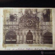 Fotografía antigua: TOLEDO. LA CATEDRAL. CORO. APROX 1880. LEVY. Lote 53177567
