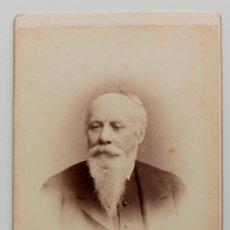Fotografía antigua: RETRATO DE CABALLERO CON BARBA- FINALES DEL 1800S - 16 X 11 CM. Lote 53191112