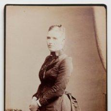 Fotografía antigua: ELEGANTE DAMA VICTORIANA- 1800S - FOTÓGRAFO BARRY. Lote 53191445