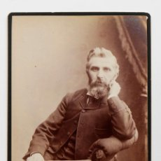 Fotografía antigua: CABALLERO INGLÉS POSANDO EN ESTUDIO- 1800S - FOTÓGRAFO BARRY. Lote 53191478