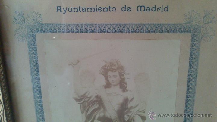 Fotografía antigua: RR FOTOGRAFIA SOBRE CARTON Y MARCO , AYTO DE MADRID, SANTO ANGEL DE LA GUARDA, PATRON DE LOS MACEROS - Foto 2 - 53257814