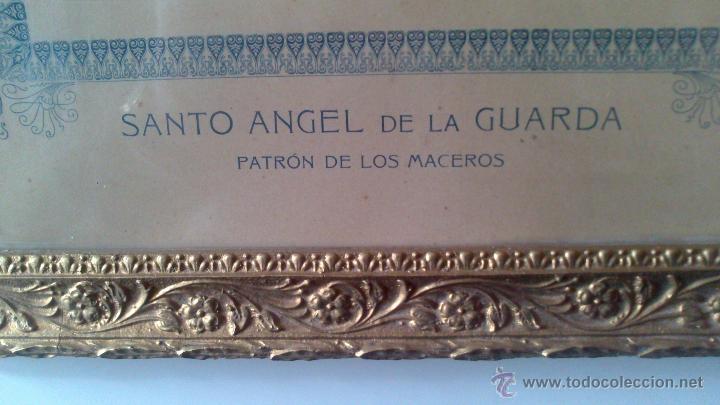 Fotografía antigua: RR FOTOGRAFIA SOBRE CARTON Y MARCO , AYTO DE MADRID, SANTO ANGEL DE LA GUARDA, PATRON DE LOS MACEROS - Foto 3 - 53257814