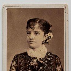 Fotografía antigua: RETRATO DE SEÑORA CUBANA. FOTÓGRAFO SAMUEL ALEJANDRO COHNER. LA HABANA 1869. Lote 53361085