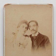 Fotografía antigua: FELISA Y MANOLO. FOTOGRAFÍA MADRILEÑA DE P. CEMBRANO. SEVILLA 1900S. Lote 53478253