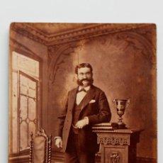 Fotografía antigua: HOMBRE BARBUDO DE FINAL DE 1800S. Lote 53569756