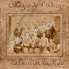 Fotografía antigua: ZALAMEA LA REAL, HUELVA, 1906, FOTOGRAFIA RECUERDO FUNCION RELIGIOSA COLEGIO SAN DIEGO,180X150MM. Lote 53589831