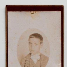 Fotografía antigua: RETRATO DE NIÑO EN ALBÚMINA SOBRE CARTÓN.. Lote 53594102